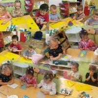 Золотая осень. Всю неделю детки с группы «Здоровейка» занималась творчеством по лепке, рисованию и аппликации на тему «Осень». А также получили огромное удовольствие от подвижных  и дидактических игр.